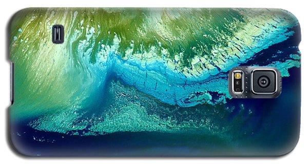 Original Blue Abstract Art Hidden Mountain By Kredart Galaxy S5 Case