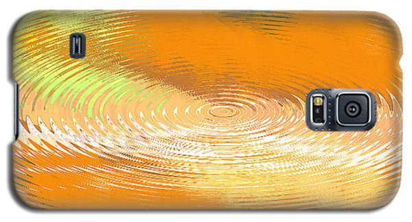 Original Fine Art Digital Abstract Galaxie Orange Galaxy S5 Case