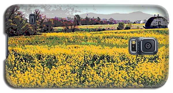Original Fine Art Digital Fields Yellow Flowers Maryland Galaxy S5 Case
