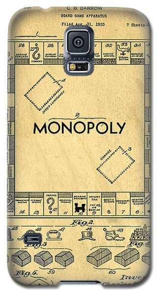 Original Patent For Monopoly Board Game Galaxy S5 Case