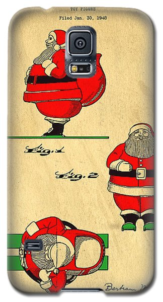 Original Patent For Santa On Skis Figure Galaxy S5 Case by Edward Fielding