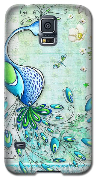 Peacock Galaxy S5 Case - Original Peacock Painting Bird Art By Megan Duncanson by Megan Duncanson