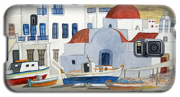 Watercolor - Mykonos Greece Detail Galaxy S5 Case