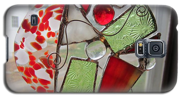 Galaxy S5 Case featuring the glass art Ornament by Karin Thue