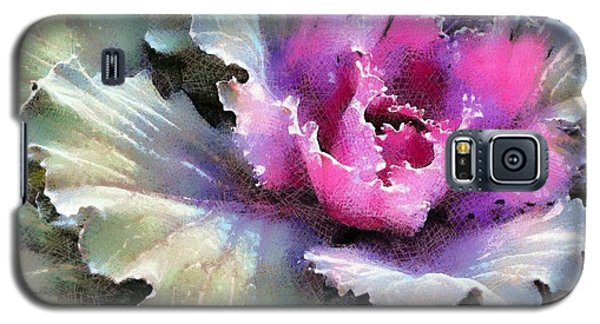 Galaxy S5 Case featuring the photograph Ornamental Cabbage And Kale - Purple Frost by Janine Riley