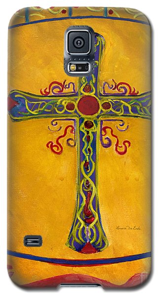 Ornamental Cross And Snake  Galaxy S5 Case