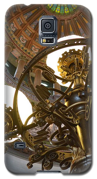 Ornate Lighting - Sprngfield Illinois Capitol Galaxy S5 Case by Luther Fine Art