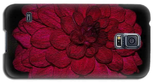 Ornate Red Dahlia Galaxy S5 Case