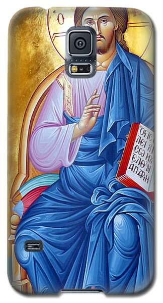 Orthodox Icon Of Jesus In Blue Galaxy S5 Case