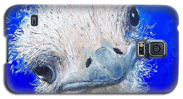 Ostrich Painting 'waldo' By Jan Matson Galaxy S5 Case by Jan Matson