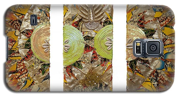 Galaxy S5 Case featuring the tapestry - textile Osun Sun by Apanaki Temitayo M