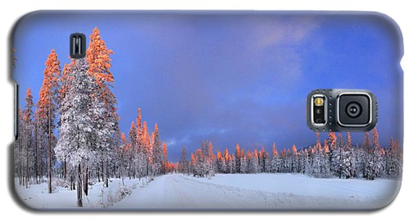 Other Side Of A Winter Sunset Galaxy S5 Case by David Andersen