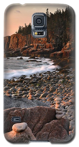 Otter Cliffs Morning Galaxy S5 Case by Stephen  Vecchiotti