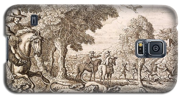 Otter Galaxy S5 Case - Otter Hunting By A River, Engraved by Francis Barlow