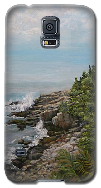 Galaxy S5 Case featuring the painting Otter Point - New England by Sandra Nardone
