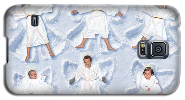 Galaxy S5 Case featuring the photograph Our Christmas Snow Angels by Doug Kreuger