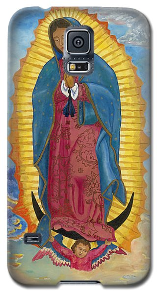 Galaxy S5 Case featuring the painting Our Lady Of Guadalupe-new Dawn by Mark Robbins
