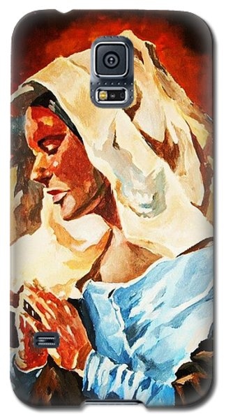 Galaxy S5 Case featuring the painting Our Lady Of Peace by Al Brown