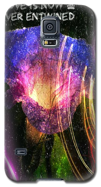 Galaxy S5 Case featuring the digital art Our Love Is Now Forever Entwined by Absinthe Art By Michelle LeAnn Scott