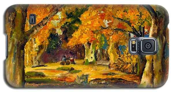 Galaxy S5 Case featuring the painting Our Place In The Woods by Mary Ellen Anderson