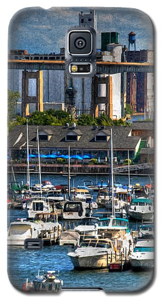 Out At The Harbor V3 Galaxy S5 Case by Michael Frank Jr