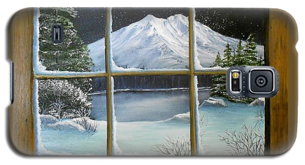 Out My Window-bright Winter's Night Galaxy S5 Case by Sheri Keith