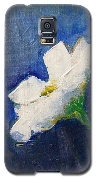Galaxy S5 Case featuring the painting Out Of The Blue by Jane  See