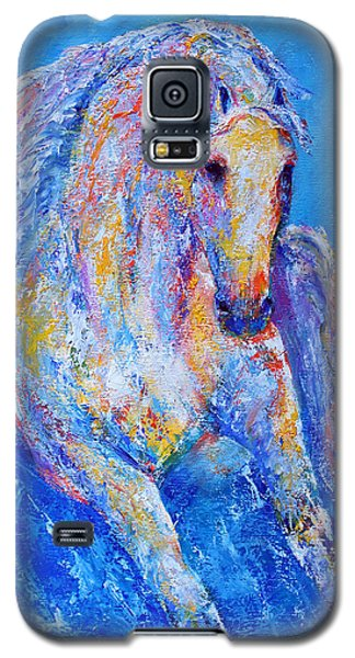 Galaxy S5 Case featuring the painting Out Of The Blue by Jennifer Godshalk