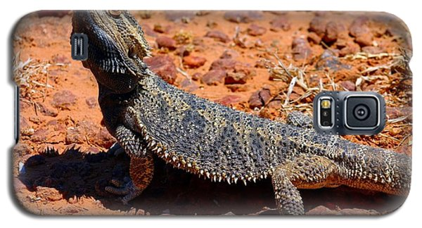 Galaxy S5 Case featuring the photograph Outback Lizard by Henry Kowalski
