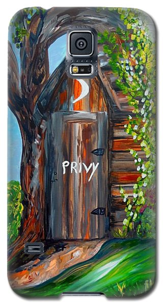 Galaxy S5 Case featuring the painting Outhouse - Privy - The Old Out House by Eloise Schneider