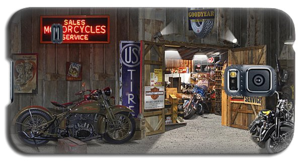 Outside The Motorcycle Shop Galaxy S5 Case by Mike McGlothlen