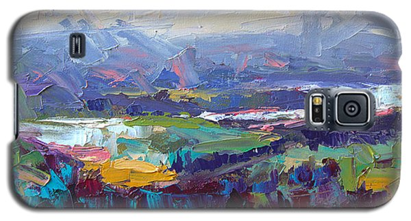 Overlook Abstract Landscape Galaxy S5 Case