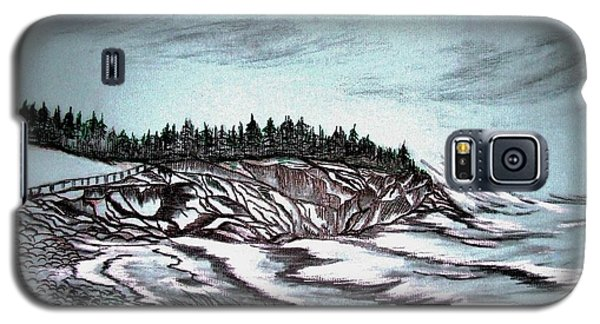 Galaxy S5 Case featuring the drawing Oven's Park Nova Scotia by Janice Rae Pariza