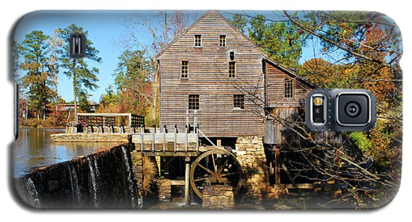 Galaxy S5 Case featuring the photograph Over The Dam At Yates Mill by Bob Sample