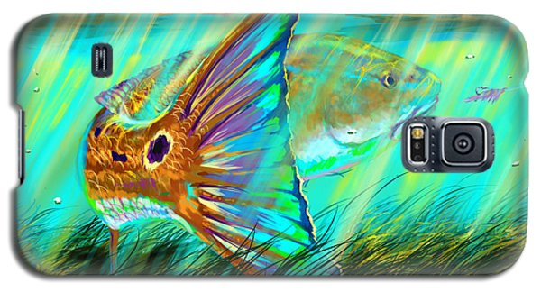 Trout Galaxy S5 Case - Over The Grass  by Yusniel Santos