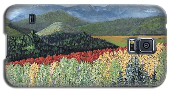 Galaxy S5 Case featuring the painting Over The Hills And Through The Woods by Suzanne Theis