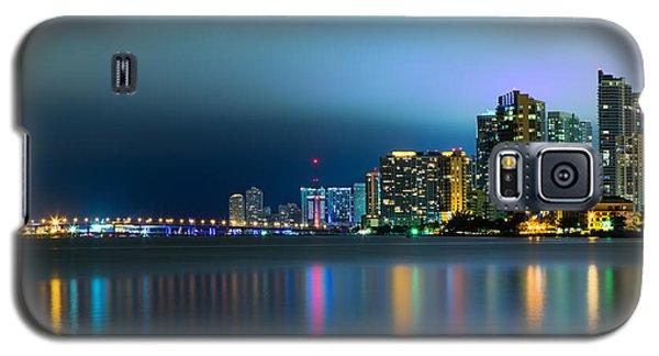 Overcast Miami Night Skyline Galaxy S5 Case