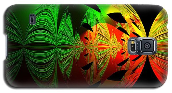 Art. Unigue Design.  Abstract Green Red And Black Galaxy S5 Case