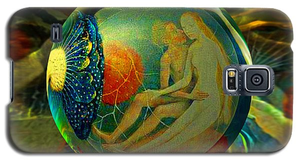 Galaxy S5 Case featuring the painting Ovule Of Eden  by Robin Moline