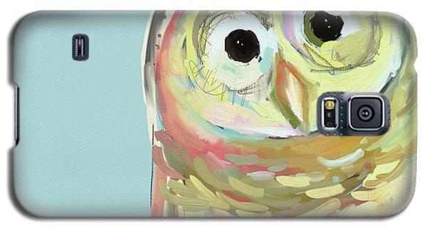 Blue Galaxy S5 Case - Owl #5 by Cathy Walters