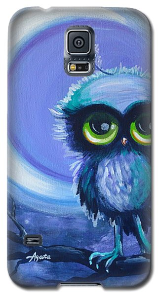 Galaxy S5 Case featuring the painting Owl Be Brave by Agata Lindquist