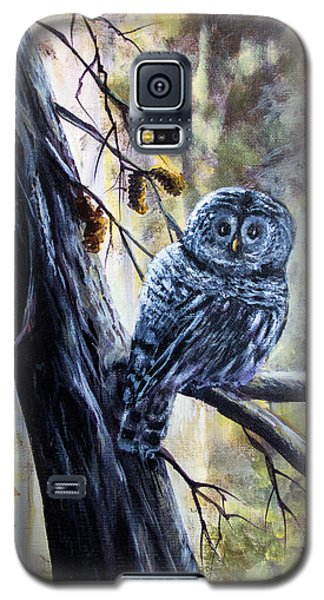 Galaxy S5 Case featuring the painting Owl by Bozena Zajaczkowska