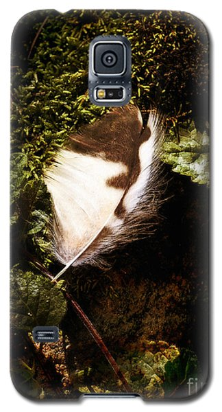 Owl Feather On Natures Canvas Galaxy S5 Case by Lee Craig