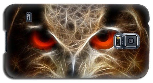 Galaxy S5 Case featuring the digital art Owl - Fractal Artwork by Lilia D
