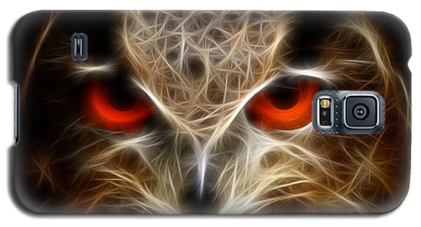 Owl - Fractal Artwork Galaxy S5 Case