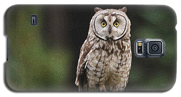 Galaxy S5 Case featuring the photograph Owl In The Forest Visits by Tom Janca
