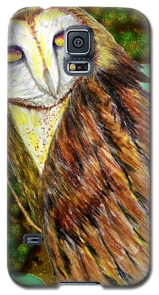 Owl Mixed Media Galaxy S5 Case