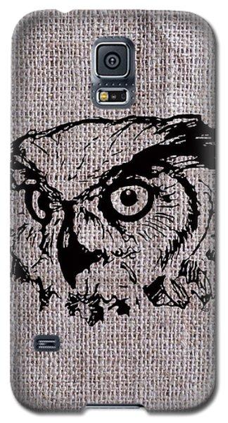Owl On Burlap Galaxy S5 Case
