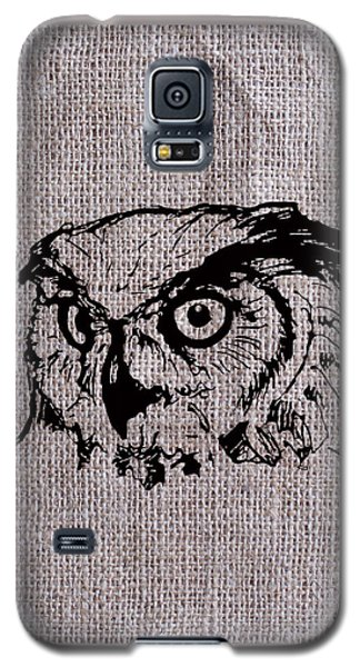 Owl On Burlap Galaxy S5 Case