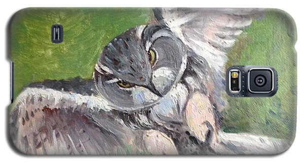 Galaxy S5 Case featuring the painting Flying Owl by Rose Wang